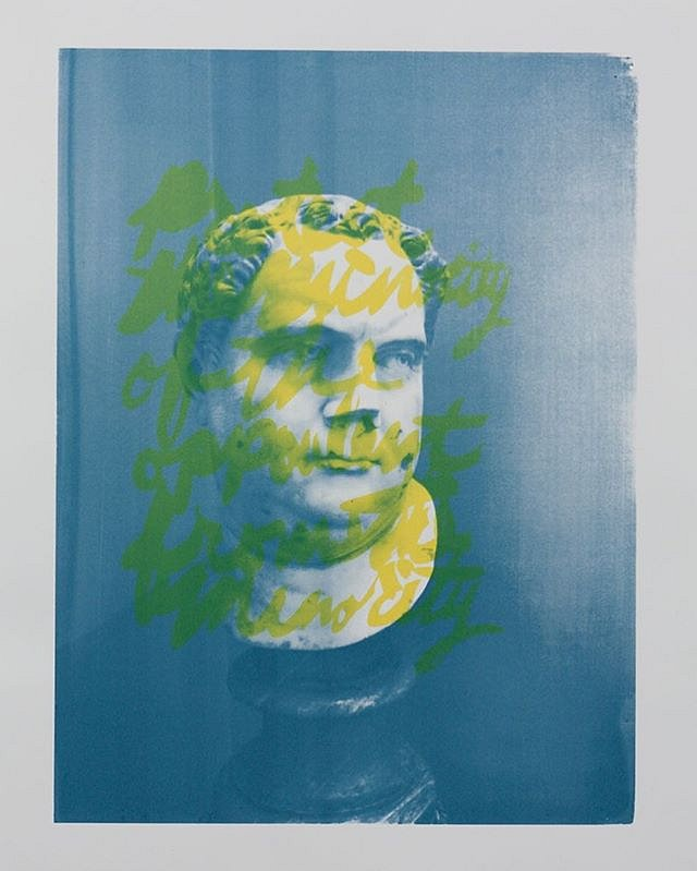 Protecting the minority of the opulent from the majority, silkscreen. The title comes from a James Madison quote excerpted from the transcript of the constitutional convention.  Aristotle made the point that if you have, in a perfect democracy, a small nu