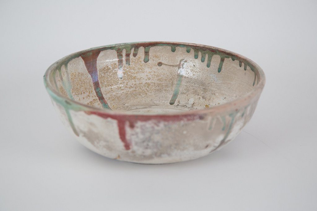 Bowl (White, red, green and gold)